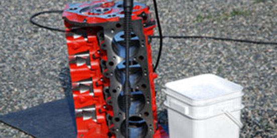 Cleaning Engine Block