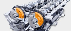 Variable Valve Timing - Improves low And high Speed Torque