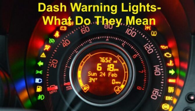 Dash Warning Lights What Do They Mean