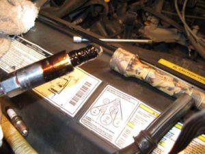 Oil On Plug